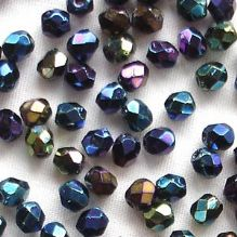 3mm Fire Polished, Blue Iris - 50